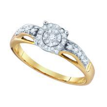 10K Yellow Gold Jewelry 0.21 ctw Diamond Ladies Ring - ID#J15R6-WGD76064