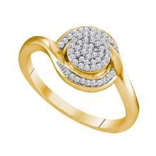 10K Yellow Gold Jewelry 0.15 ctw Diamond Ladies Ring - ID#J15R6-WGD64878