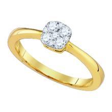 10K Yellow Gold Jewelry 0.31 ctw Diamond Ladies Ring - ID#N24H1-WGD81722
