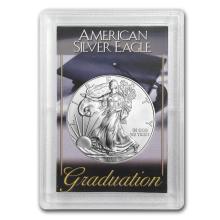 One 2015 1 oz Silver American Eagle BU (Graduation, Harris Holder