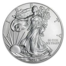 One 2011 1 oz Silver American Eagle BU