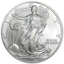One 2007 1 oz Silver American Eagle BU