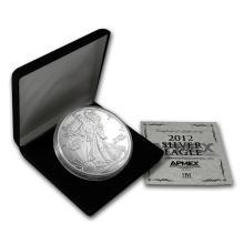 One 4 oz Silver Round - 2012 Silver Eagle (w/Box & COA)