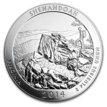 One 2014 5 oz Silver ATB Shenandoah National Park, VA