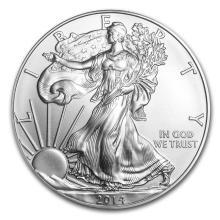 One 2014 1 oz Silver American Eagle BU