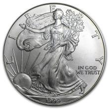 One 1999 1 oz Silver American Eagle BU