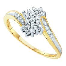 10K Yellow Gold Jewelry 0.10 ctw Diamond Ladies Ring - GD#15864