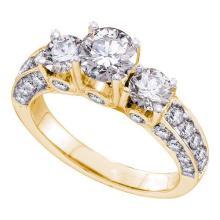 14K Yellow Gold Jewelry 2.5 ctw Diamond Bridal Ring - GD#48490
