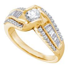 14K Yellow Gold Jewelry 1.0 ctw Diamond Bridal Ring - GD#53769
