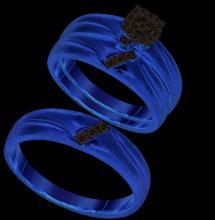 10K Yellow Gold Jewelry 0.18 ctw Diamond Trio Ring Set - GD#93884