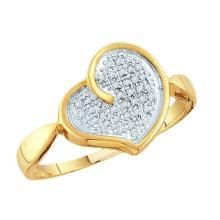 10K Yellow Gold Jewelry 0.10 ctw Diamond Ladies Ring - GD#46689