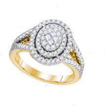 14K Yellow Gold Jewelry 1.0 ctw Diamond Bridal Ring - GD#87788