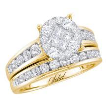 14K Yellow Gold Jewelry 0.50 ctw Diamond Bridal Ring Set - GD#48790