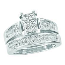 14K Yellow Gold Jewelry 1.5 ctw Diamond Bridal Ring Set - GD#38849
