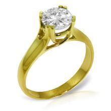 Genuine 1.0 ctw Diamond Anniversary Ring Jewelry 14KT Yellow Gold - GG#5165