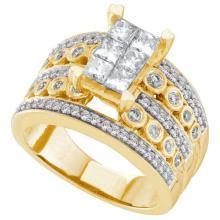 14K Yellow Gold Jewelry 1.51 ctw Diamond Ladies Ring - GD#44433