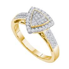 10K 2Tone Gold Jewelry 0.33 ctw Diamond Ladies Ring - GD#59057