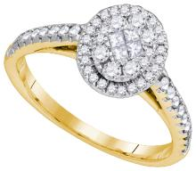 14K Yellow Gold Jewelry 0.52 ctw Diamond Ladies Ring - GD#87795