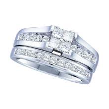 14K Yellow Gold Jewelry 1.0 ctw Diamond Bridal Ring Set - GD#30538