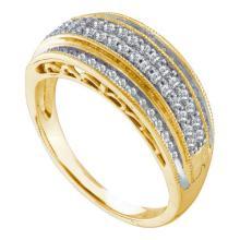10K Yellow Gold Jewelry 0.39 ctw Diamond Ladies Ring - GD#58689
