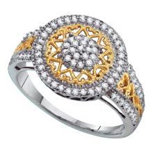 Fine Silver Jewelry 0.50 ctw Diamond Ladies Ring - GD#55451