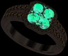 14K White Gold Jewelry 1.57 ctw Ruby & Diamond Ladies Ring - GD#95444