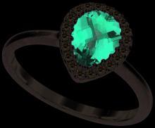 14K White Gold Jewelry 1.3 ctw Ruby & Diamond Ladies Ring - GD#94708