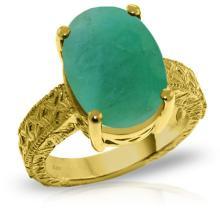 Genuine 6.5 ctw Emerald Ring Jewelry 14KT Yellow Gold - GG#5279