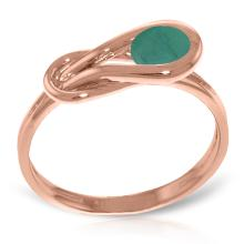 Genuine 0.65 ctw Emerald Ring Jewelry 14KT Rose Gold - GG-4217-REF#49N6R