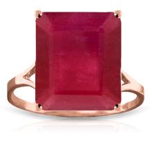 Genuine 7.5 ctw Ruby Ring Jewelry 14KT Rose Gold - GG-4168-REF#87F2Z