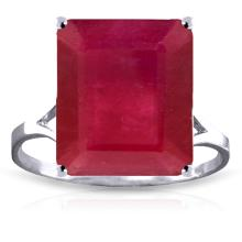Genuine 7.5 ctw Ruby Ring Jewelry 14KT White Gold - GG-4168-REF#87A2K