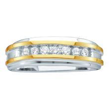 10K White Gold Jewelry 0.25 ctw Diamond Men's Ring - GD#39730 - REF#R27F7