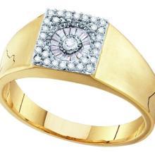 14K Yellow Gold Jewelry 0.27 ctw Diamond Men's Ring - GD#55812 - REF#W42N1