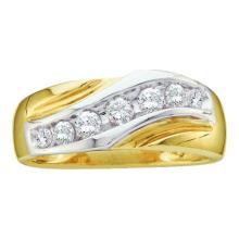 10K 2Tone Gold Jewelry 0.50 ctw Diamond Men's Ring - GD#11070 - REF#T54G1