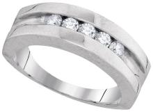 10K White Gold Jewelry 0.50 ctw Diamond Men's Ring - GD#94010 - REF#M42U1