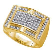 10K Yellow Gold Jewelry 0.50 ctw Diamond Men's Ring - GD#38118 - REF#Y48H1