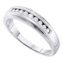 10K White Gold Jewelry 0.27 ctw Diamond Men's Ring - GD#55055 - REF#H27N7