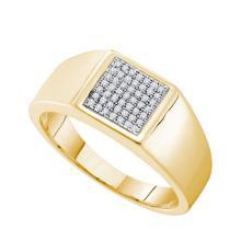 10K Yellow Gold Jewelry 0.15 ctw Diamond Men's Ring - GD#52691 - REF#W33N7
