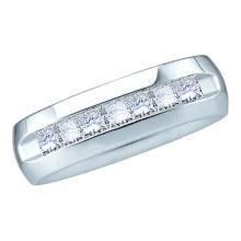 14K White Gold Jewelry 0.50 ctw Diamond Men's Ring - GD#40788 - REF#W84N1