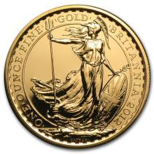 One 2012 Great Britain Gold 1 oz Britannia BU (25th Anniv) - WJA66462