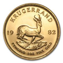 One 1982 South Africa 1 oz Gold Krugerrand - WJA88045