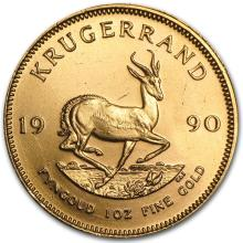 One 1990 South Africa 1 oz Gold Krugerrand - WJA60324