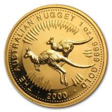 One 2000 Australia 1 oz Gold Nugget BU - WJA64136
