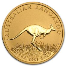 One 2008 Australia 1 oz Gold Kangaroo BU - WJA28834
