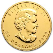 One 2009 Canada 1 oz Gold Maple Leaf BU - WJA46352