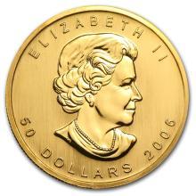 One 2006 Canada 1 oz Gold Maple Leaf BU - WJA11423