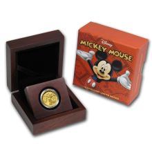One 2014 Niue 1/4 oz Proof Gold $25 Disney Mickey Mouse - WJA85585