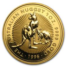 One 1996 Australia 1 oz Gold Nugget BU - WJA84973