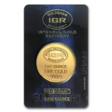 One 1 oz Gold Round - Istanbul Gold Refinery (In Assay) - WJA77686