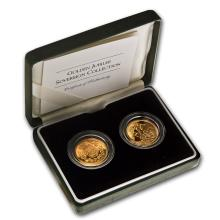 One 2002 Great Britain 2-Coin Golden Jubilee Sovereign Collection - WJA71365